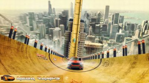 巨型坡道赛车特技破解版