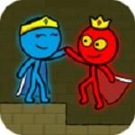 红色和蓝色火柴人动画跑酷